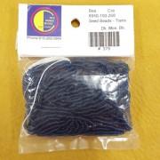 Dark Mountain Blue Transparent Seed Beads (size 10)