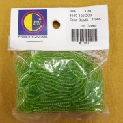 Light Green Transparent Seed Beads (size 10)