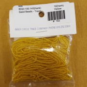 Yellow Transparent Seed Beads (size 10)