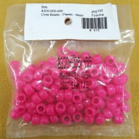 Fuschia Neon Plastic Crow Beads