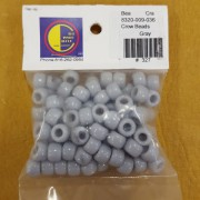 Gray Opaque Plastic Crow Beads