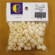 Ivory Opaque Plastic Crow Beads