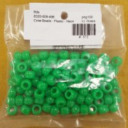 Light Green Neon Plastic Crow Beads