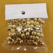 Gold Opaque Plastic Crow Beads