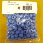 Medium Blue Glass Crow Beads (3 oz bag)