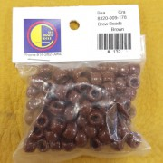 Brown Opaque Plastic Crow Beads