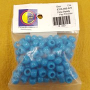 Pony Trader Blue Opaque Plastic Crow Beads