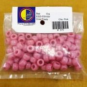 Cheyenne Pink Opaque Plastic Crow Beads