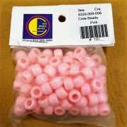 Pink Opaque Plastic Crow Beads