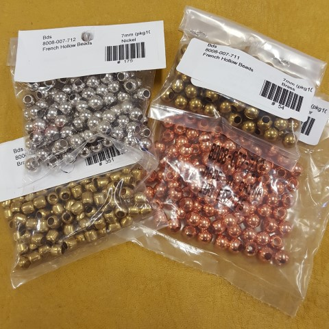 Sample of metal beads