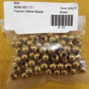 Brass French Hollow Beads (7 mm)